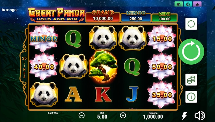 Great Panda Hold and Win Gameplay