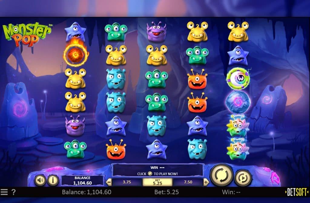 De Monster Pop gokkast is ontwikkeld door spelprovider Betsoft