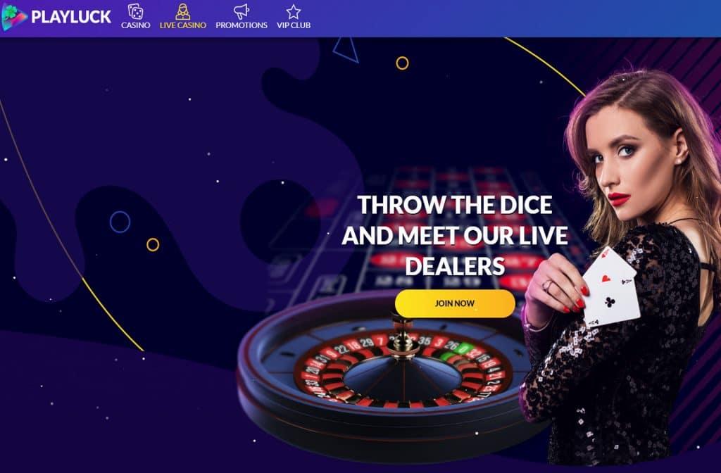 Ga eens gokken in het live casino van het Playluck Casino