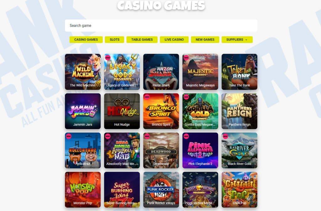 Er is keuze uit meer dan 1.200 casino spellen