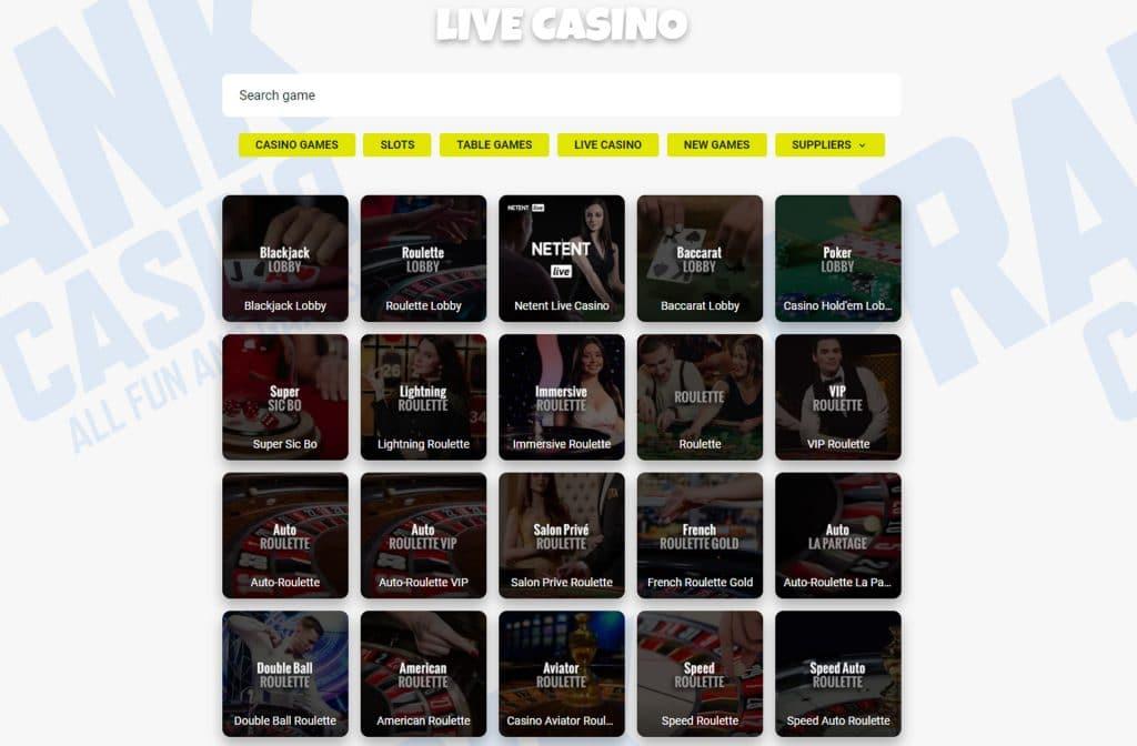 Het is ook zeker de moeite waard om een kijkje te nemen in het Live Casino