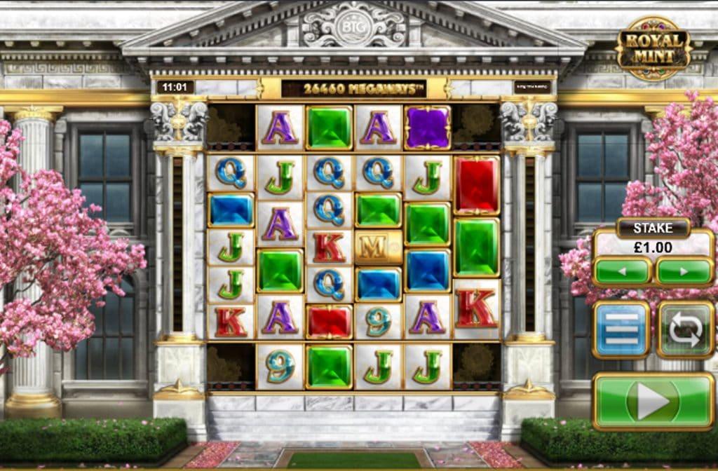De Royal Mint Megaways gokkast is ontwikkeld door spelprovider Big Time Gaming