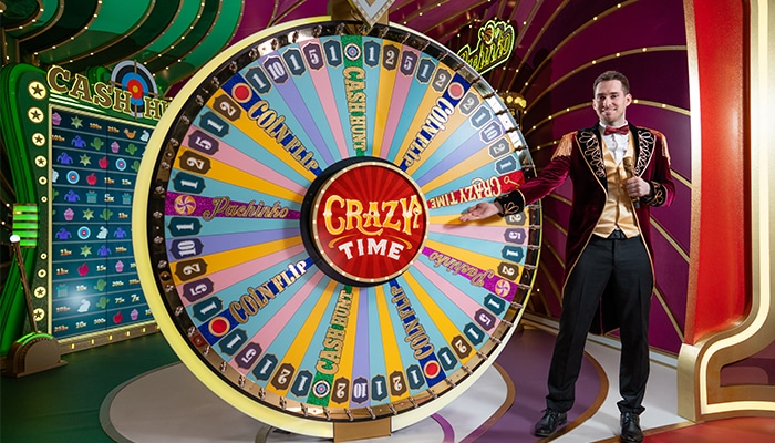 Crazy Time is een enorm populaire game show van Evolution Gaming