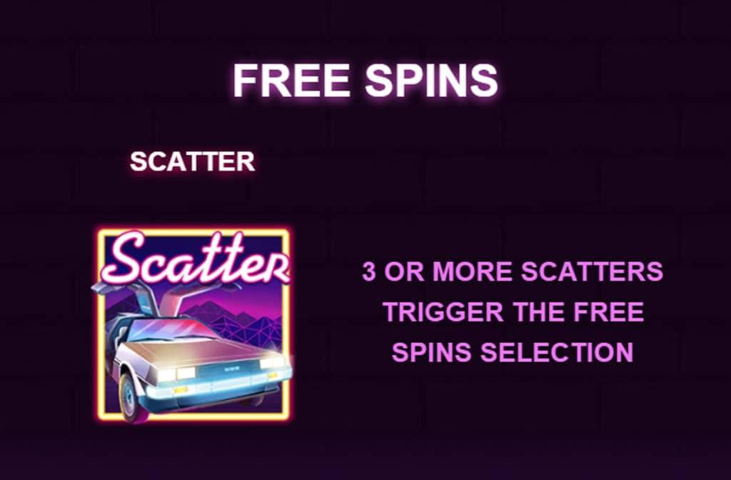 Het Scatter symbool herken je aan de auto en levert free spins op