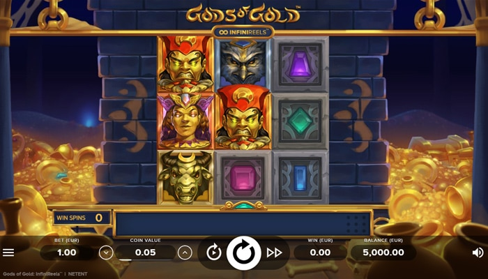 Gods of Gold Infinireels Gameplay