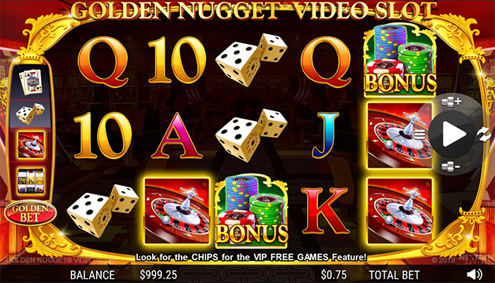 Golden Nugget Video Slot Gameplay