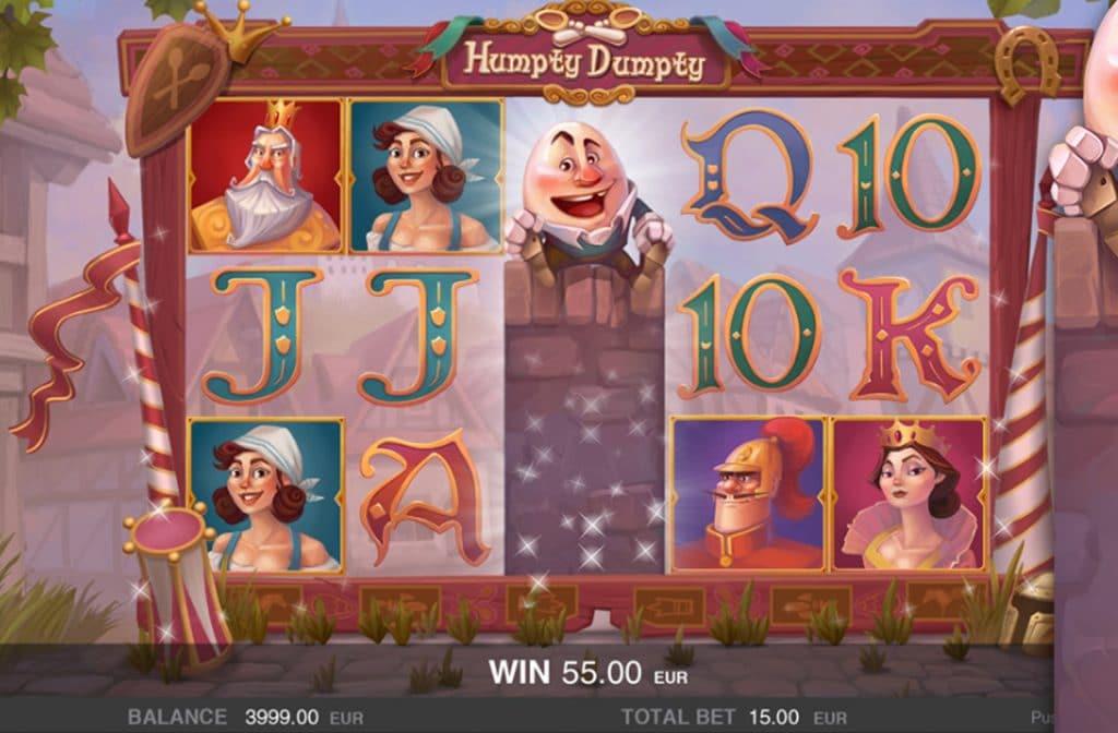 Humpty Dumpty activeert de Free Spins Bonus