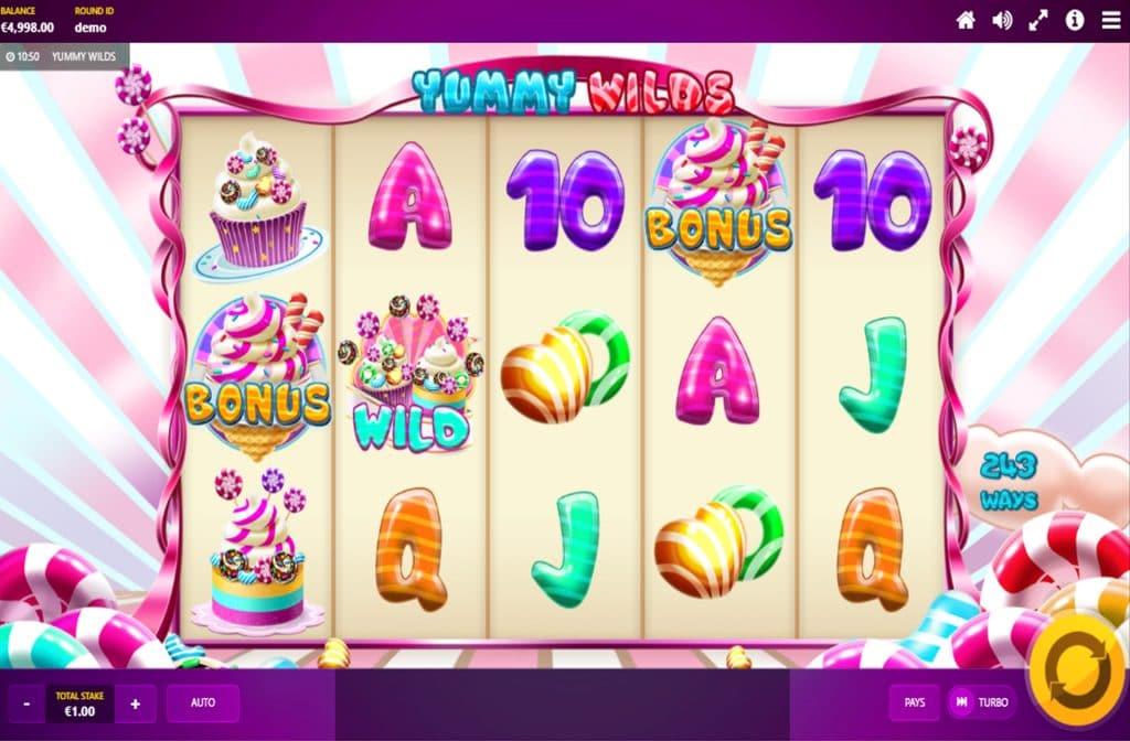 De diverse bonussen zorgen voor mooie geldprijzen bij Yummy Wilds