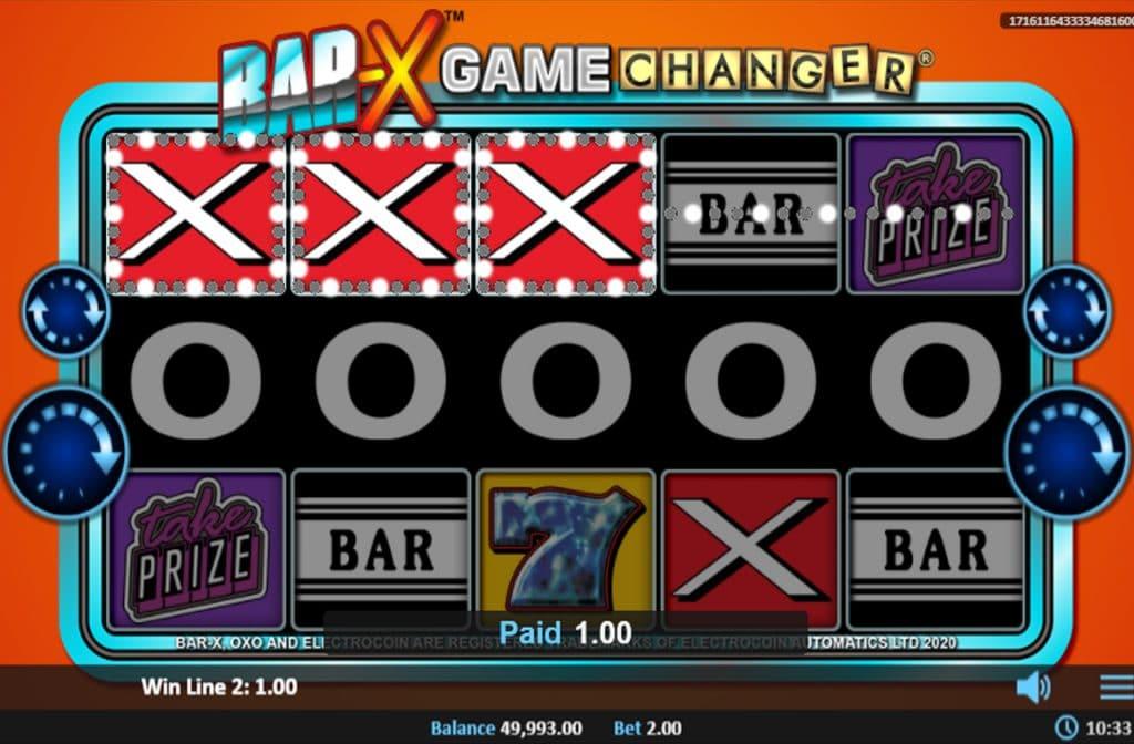De Bar X Game Changer gokkast is ontwikkeld door spelprovider Realistic