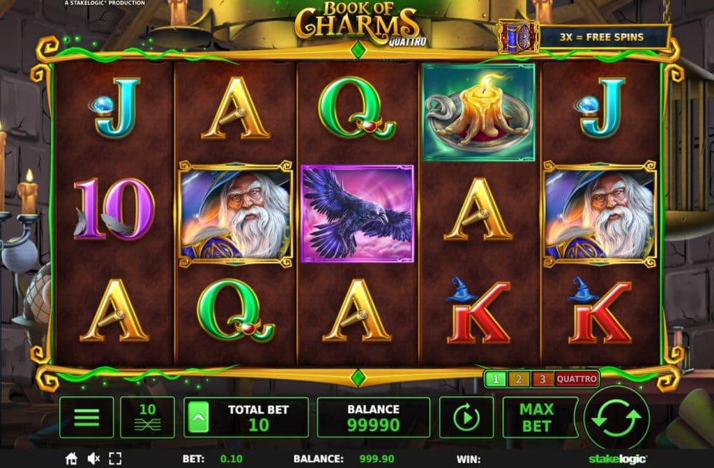 De Book of Charms Quattro gokkast is ontwikkeld door spelprovider Stakelogic