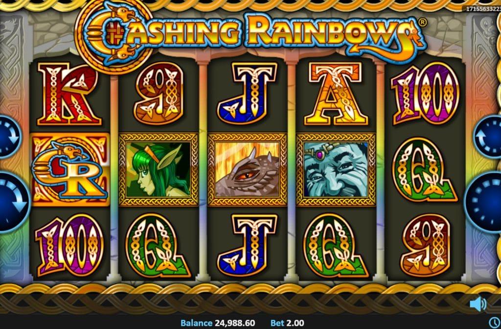 Deze Cashing Rainbows gokkast is ontwikkeld door spelprovider Realistic Games