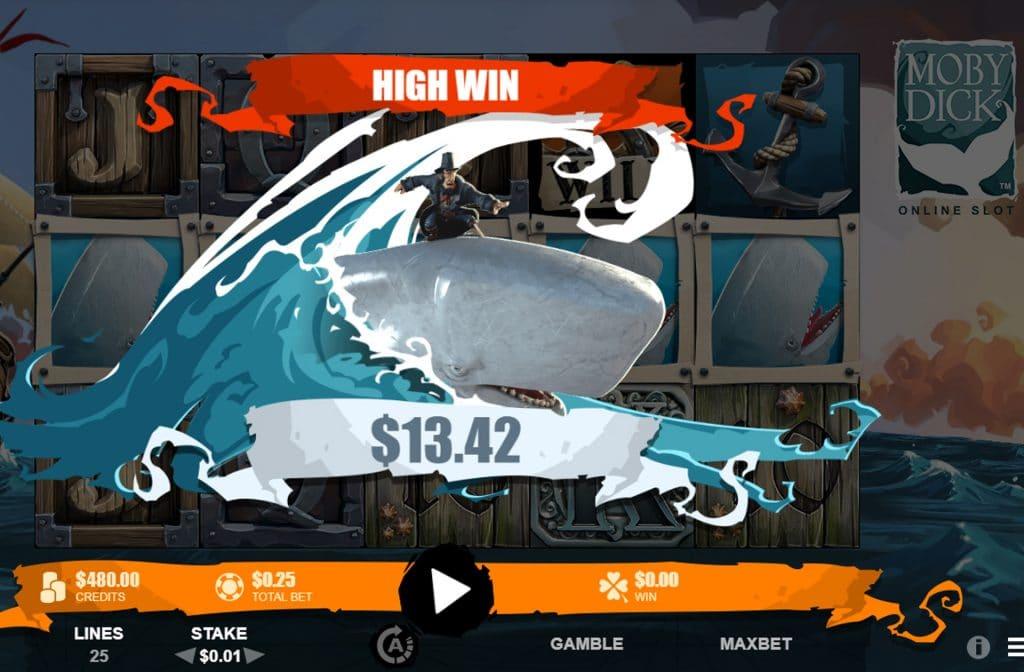 Met de Moby Dick gokkast zijn er mooie geldprijzen te winnen