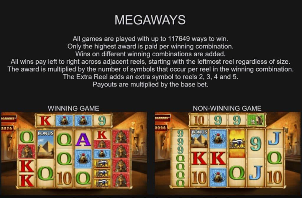 Deze gokkast speel je Megaways, wat wil zeggen dat er 117.649 winmanieren zijn