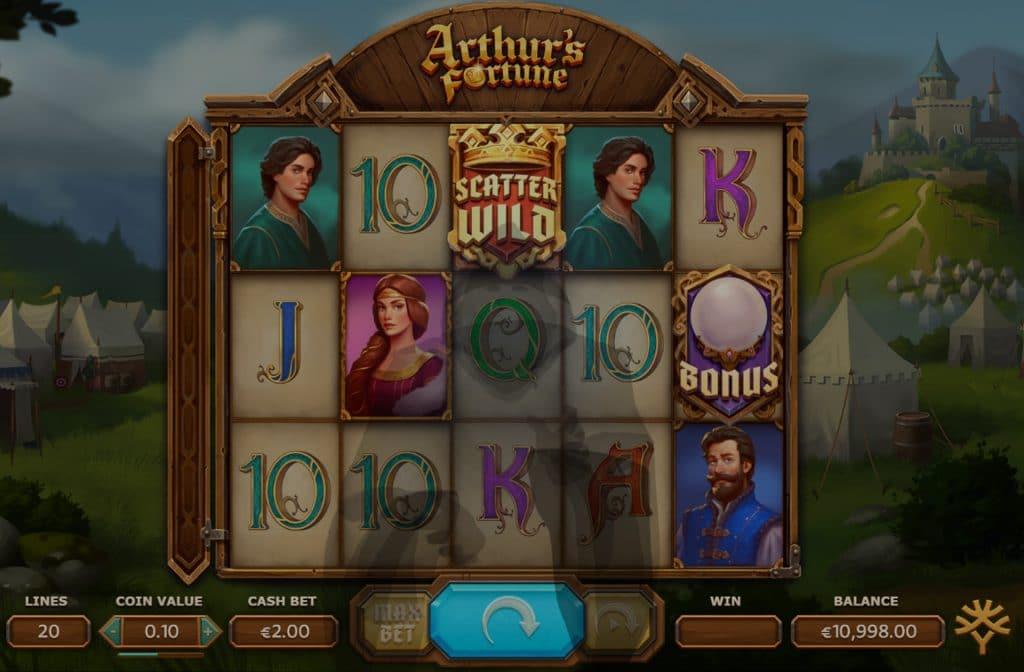 De Arthur's Fortune gokkast is ontwikkeld door spelprovider Yggdrasil