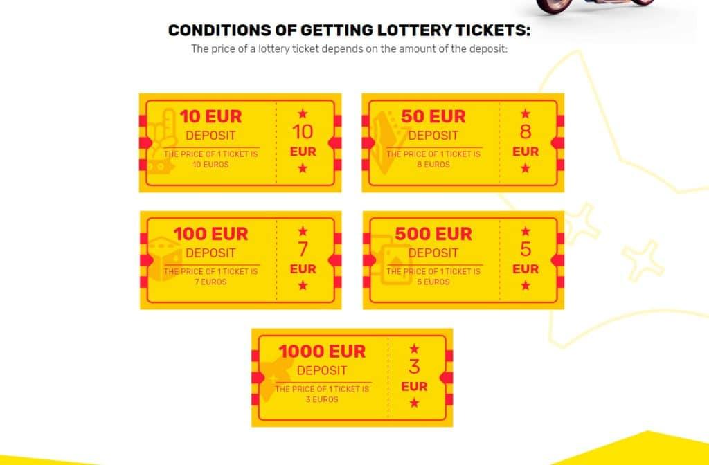 Je kunt ook met een loterij meespelen bij CrazyFox Casino