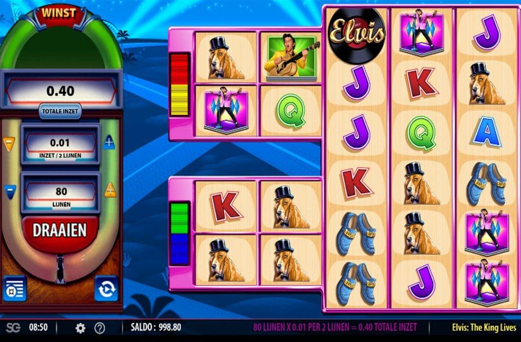 De Elvis the King Lives gokkast is ontwikkeld door spelprovider WMS