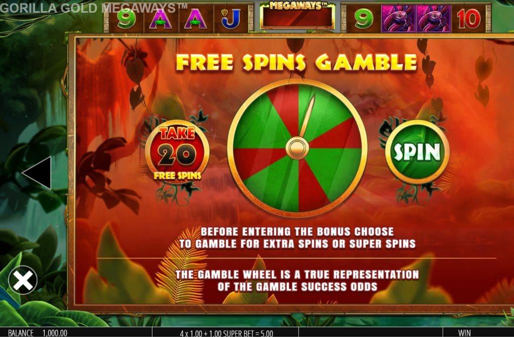 Je kunt gaan gokken tussen Free Spins of Super Spins