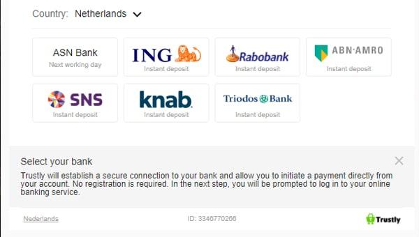 Kies de bank die je wilt gebruiken