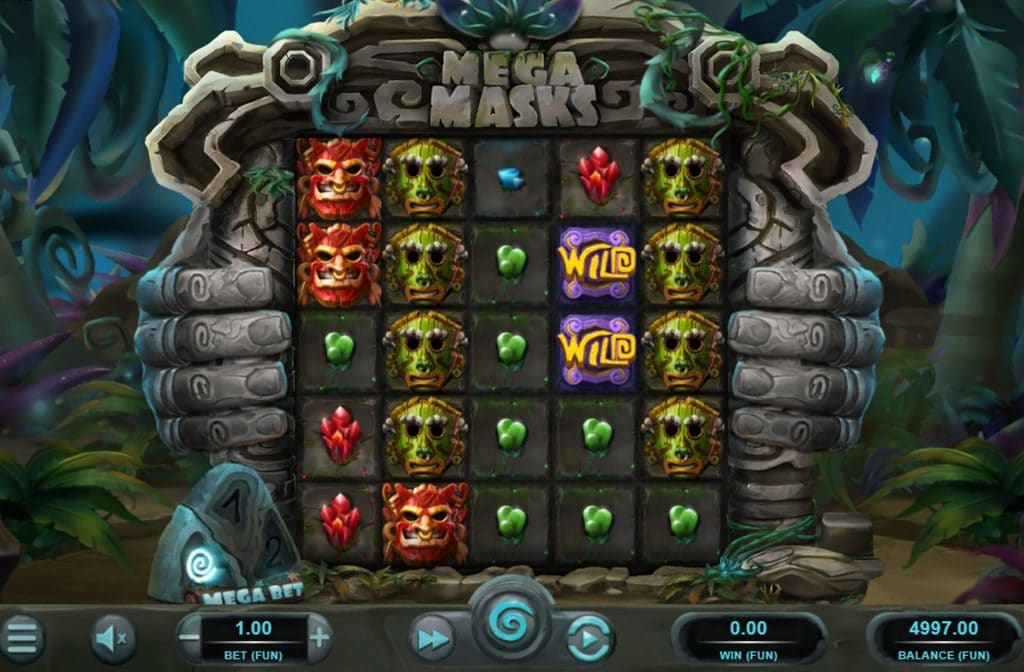 De Mega Masks gokkast is ontwikkeld door spelprovider Relax Gaming