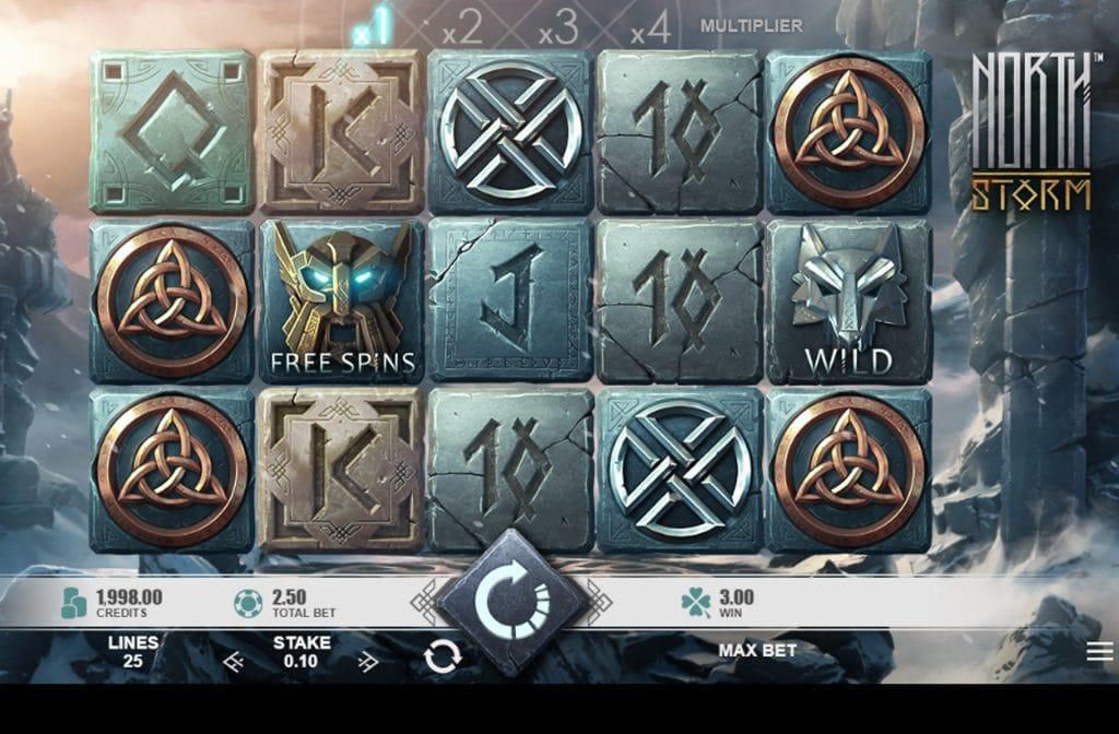 De North Storm gokkast is ontwikkeld met een geweldige gameplay door spelprovider Rabcat