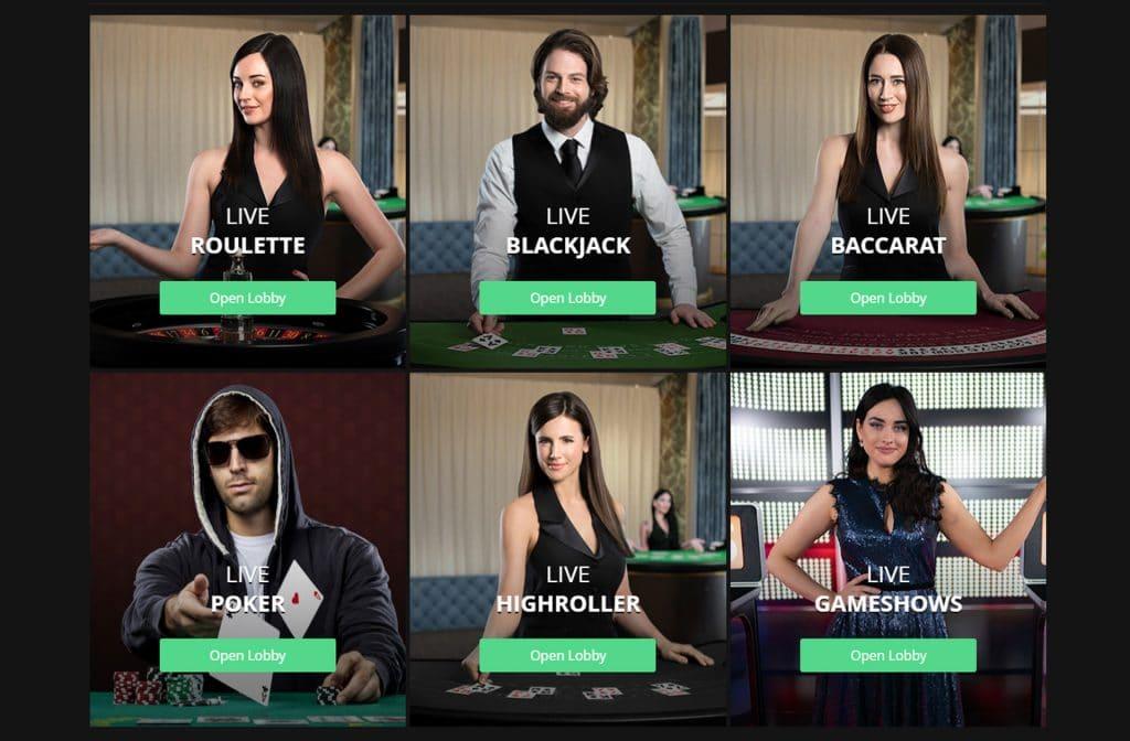 Neem gerust eens een kijkje in het Live Casino
