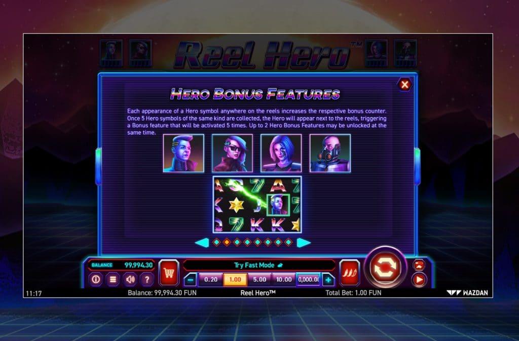 Deze mooie neon gekleurde gokkast is ontwikkeld door spelprovider Wazdan