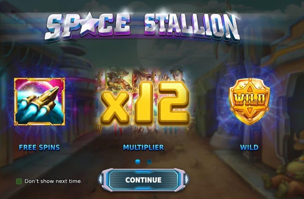 Bij Space Stallion kun je free spins, vermenigvuldigers en wild symbolen verdienen