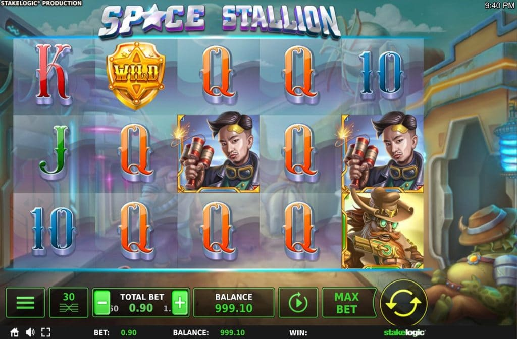 De Space Stallion gokkast is ontwikkeld door spelprovider Stakelogic