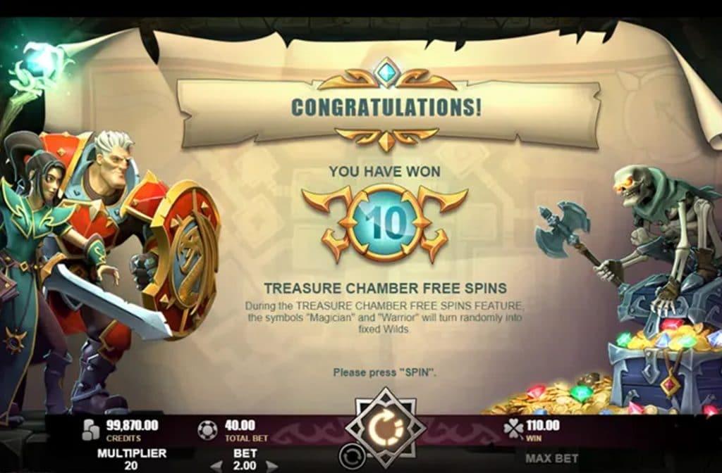 Bij Treasure Heroes kun je free spins winnen waardoor je weer extra kans op winst maakt
