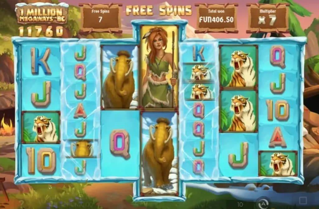 Spelprovider Iron Dog Studio heeft deze 1 Million Megaways BC gokkast ontwikkeld