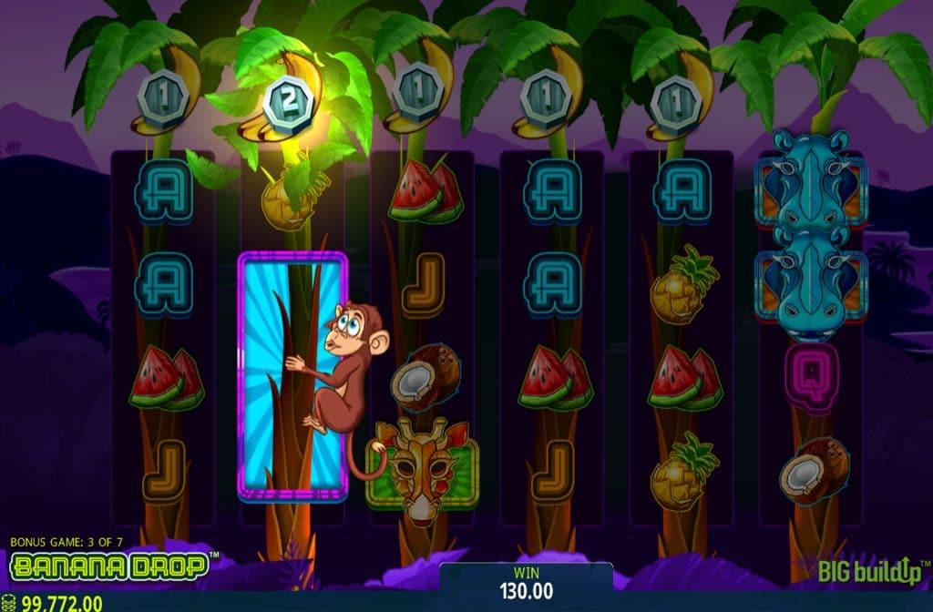 De Banana Drop gokkast is ontwikkeld door spelprovider Microgaming