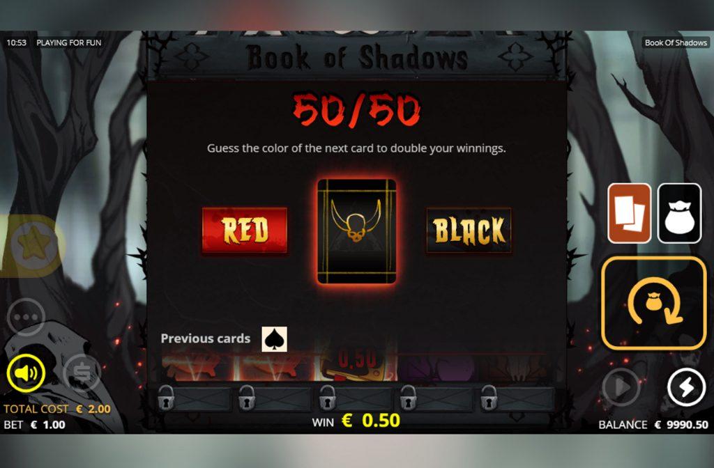 Er zijn diverse bonussen te vinden bij de Book of Shadows gokkast