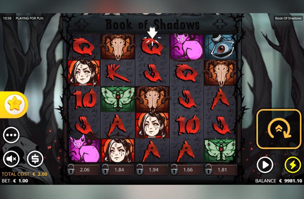 De Book of Shadows gokkast is ontwikkeld door spelprovider Nolimit City