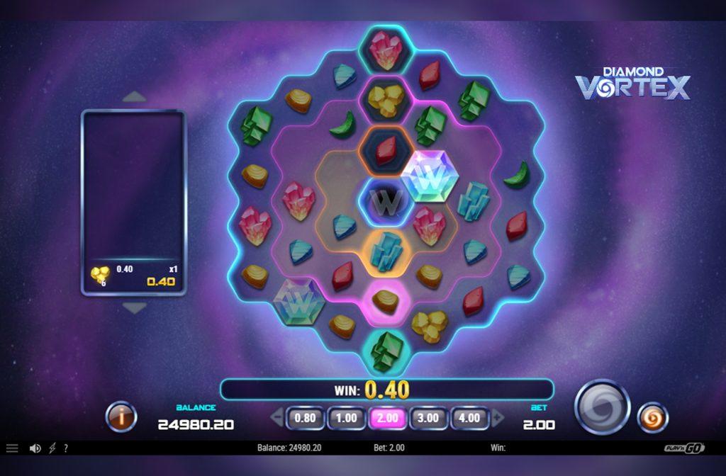 De Diamond Vortex gokkast is ontwikkeld door spelprovider Play'n GO