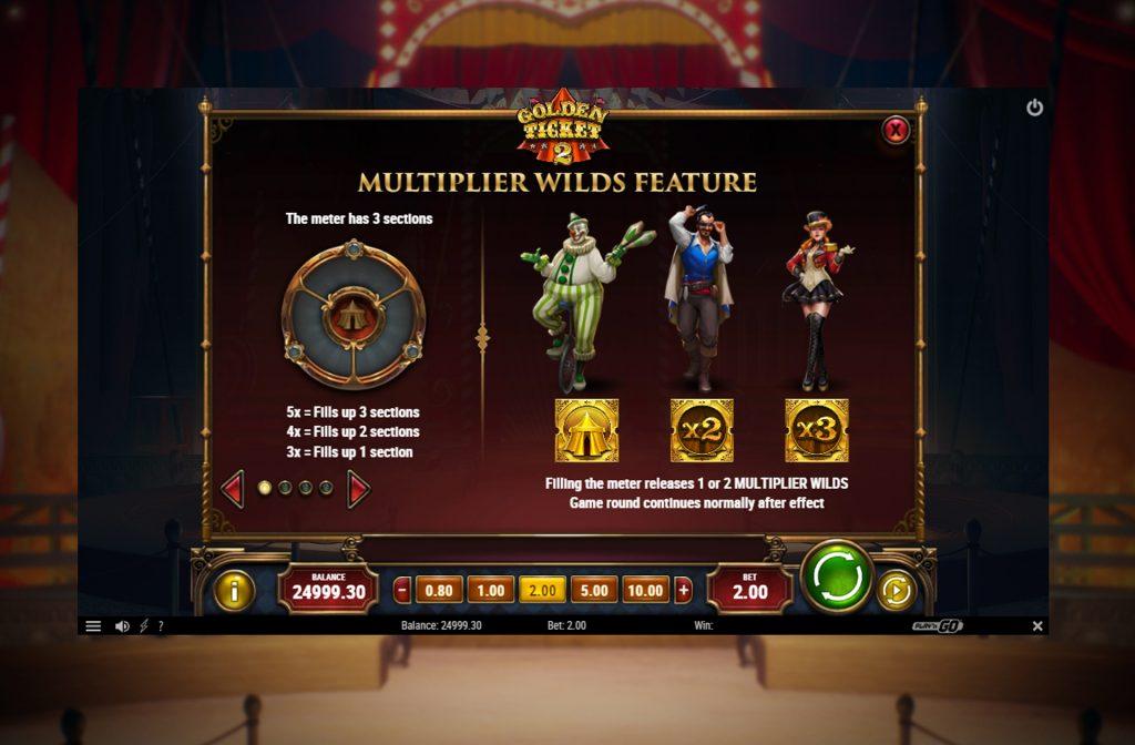 De Golden Ticket 2 gokkast kent diverse bonussymbolen