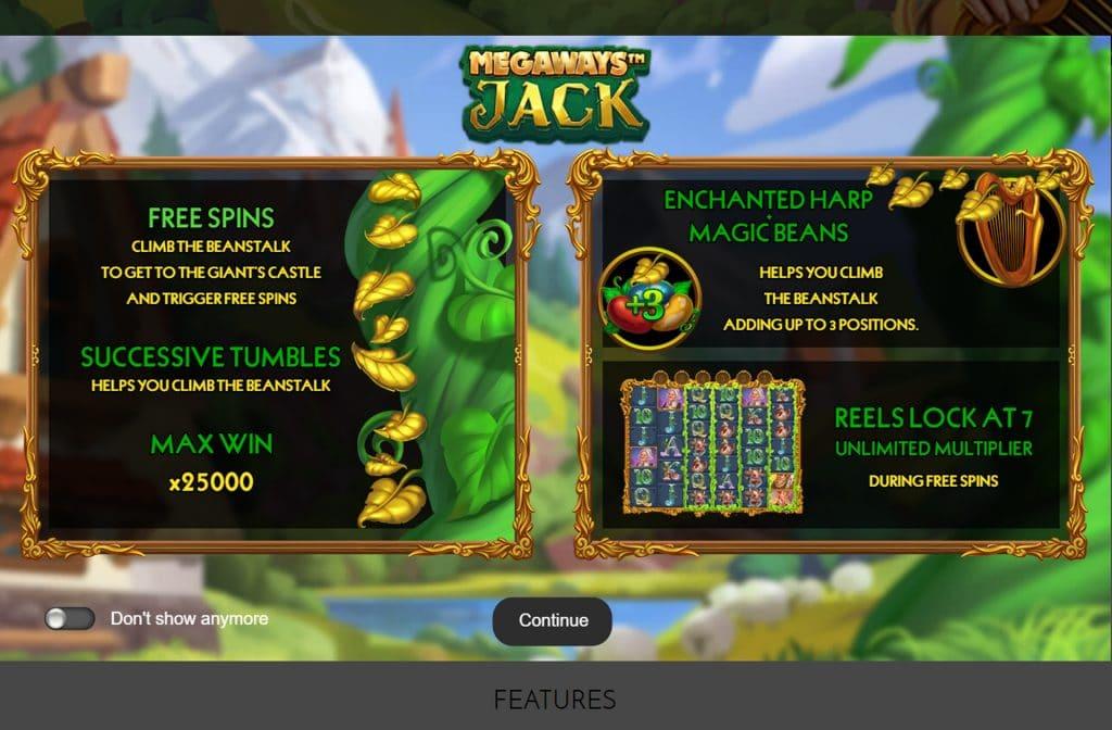 Bij Megaways Jack zijn er vele bonussen en 117.649 winmanieren die voor een spectaculaire winst kunnen zorgen