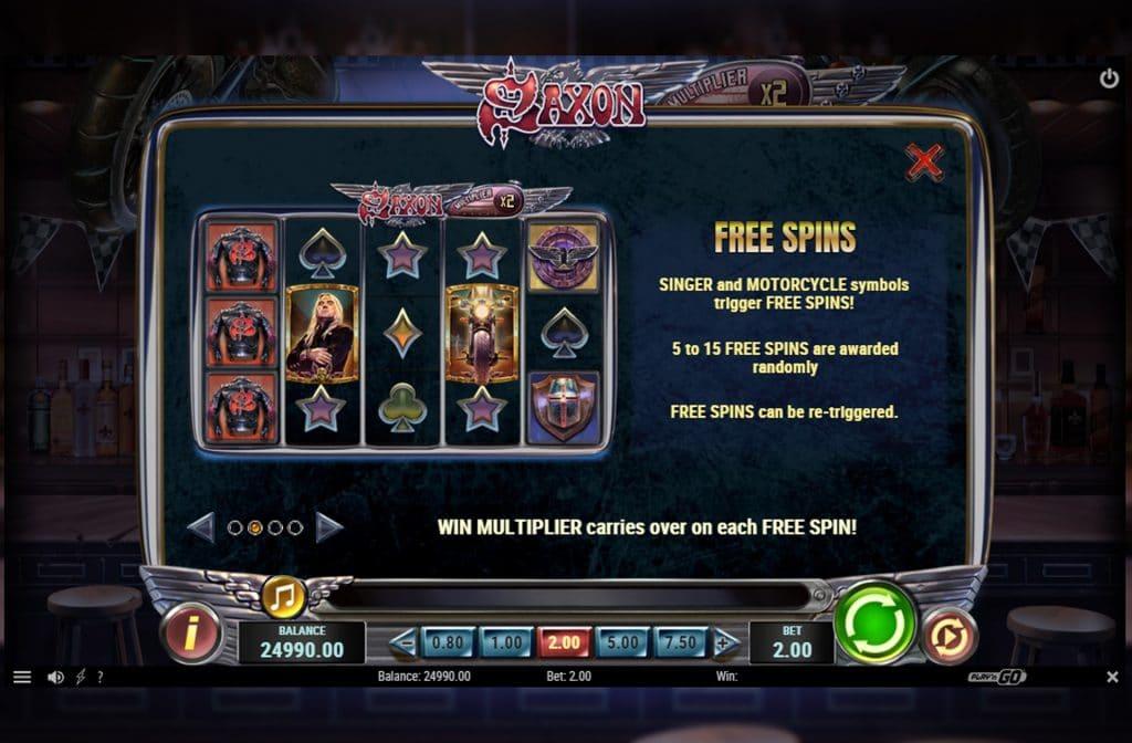 Onder de diverse bonussen die Saxon kent is er ook een Free Spins Bonus