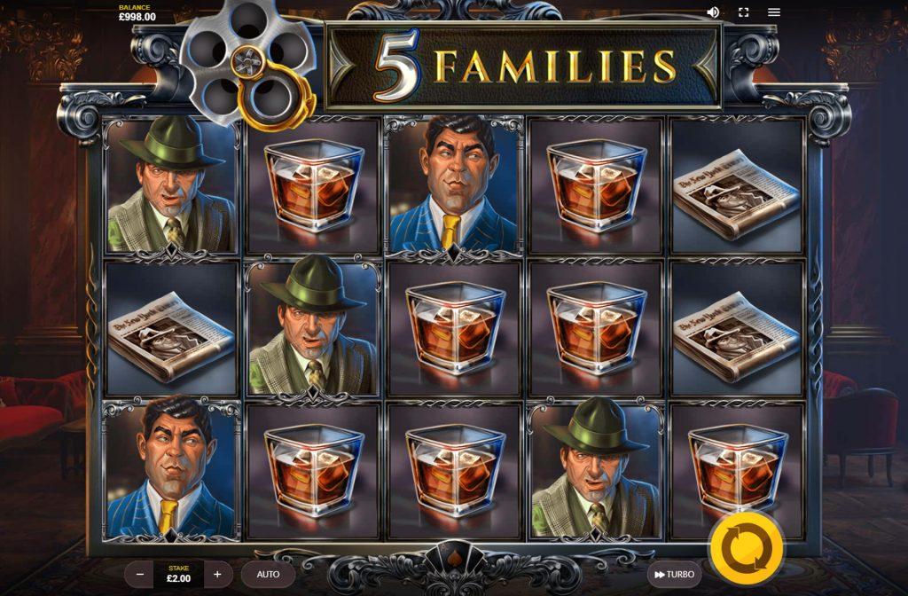 De 5 Families gokkast is ontwikkeld door spelprovider Red Tiger Gaming