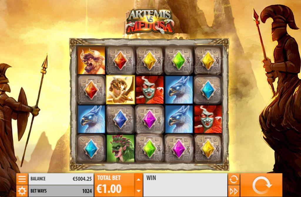 De Artemis vs Medusa gokkast is ontwikkeld door spelprovider Quickspin