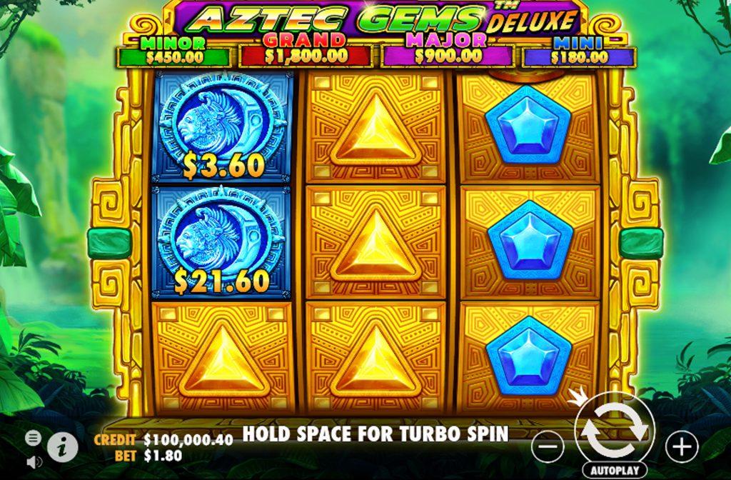 De Aztec Gems Deluxe gokkast is ontwikkeld door spelprovider Pragmatic Play