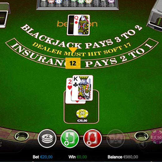 Blackjack dilemma tafel stoel