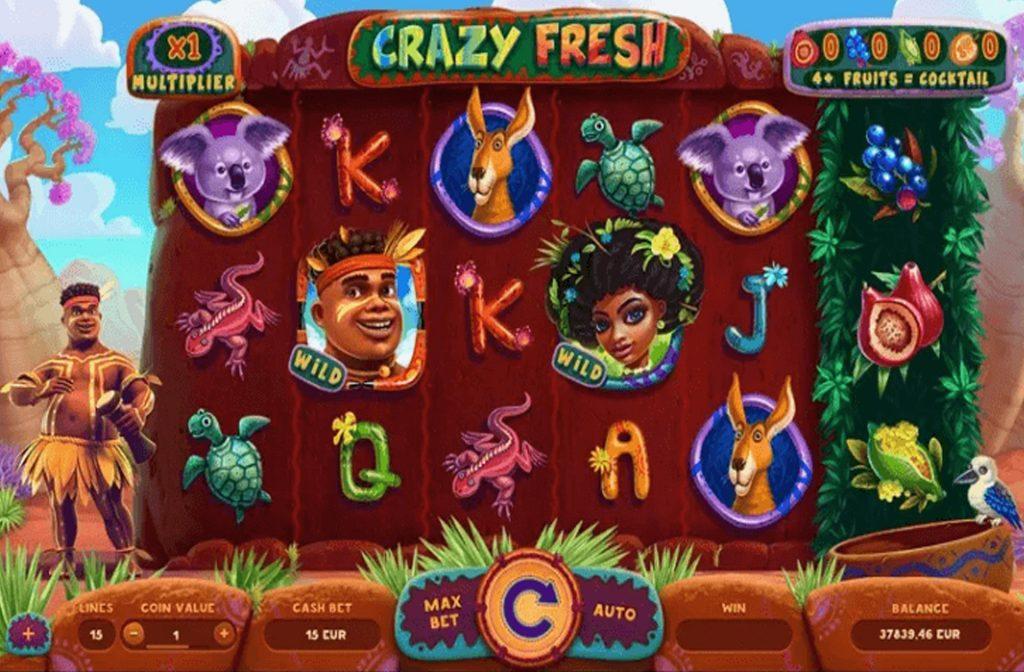 Spelprovider Yggdrasil heeft deze Crazy Fresh gokkast ontwikkeld