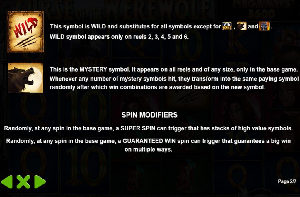 Er zijn diverse bonussen bij de Curse of the Werewolf Megaways gokkast te activeren