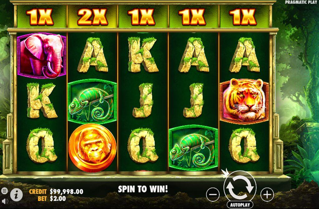 De Jungle Gorilla gokkast is ontwikkeld door spelprovider Pragmatic Play