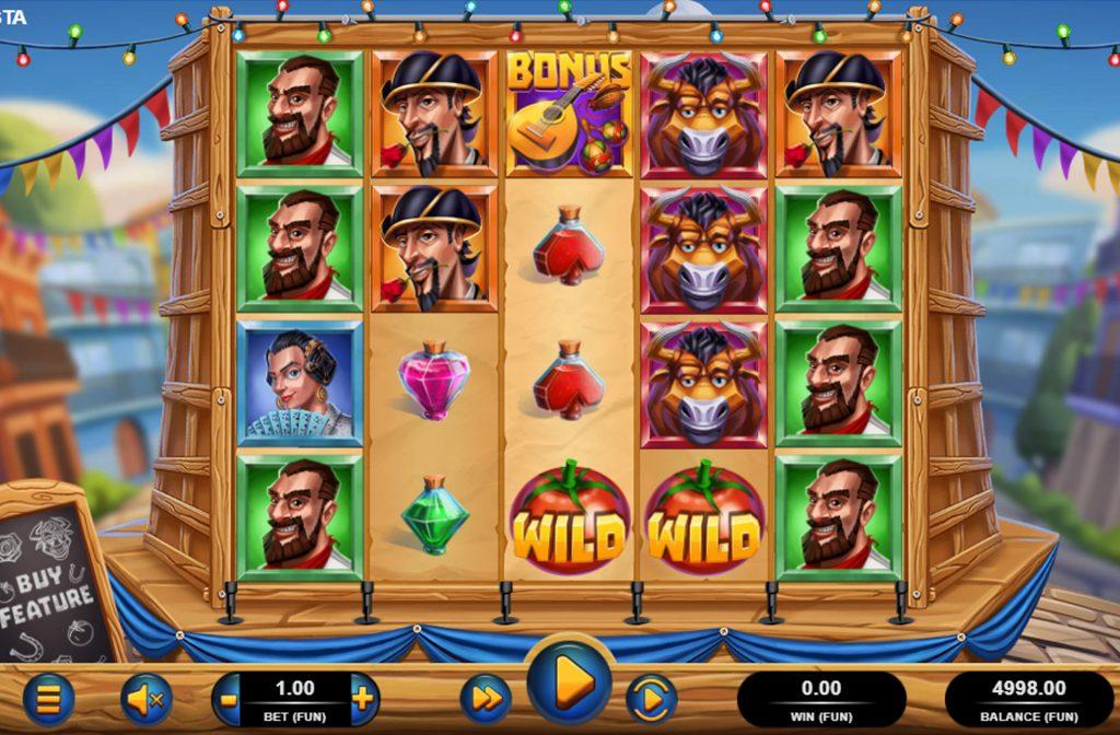 De La Fiesta gokkast is ontwikkeld door spelprovider Relax Gaming