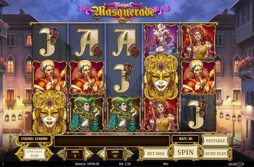 De Royal Masquerade gokkast is ontwikkeld door spelprovider Play'n GO