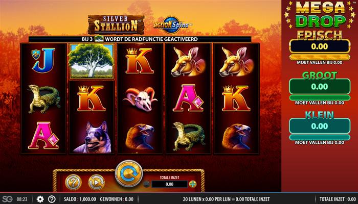 Silver Stallion Action Spins Gameplay