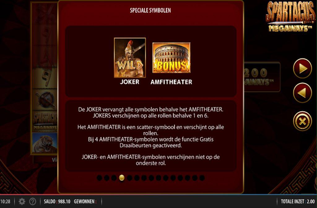 Er zijn diverse bonussen te activeren bij de Spartacus Megaways gokkast