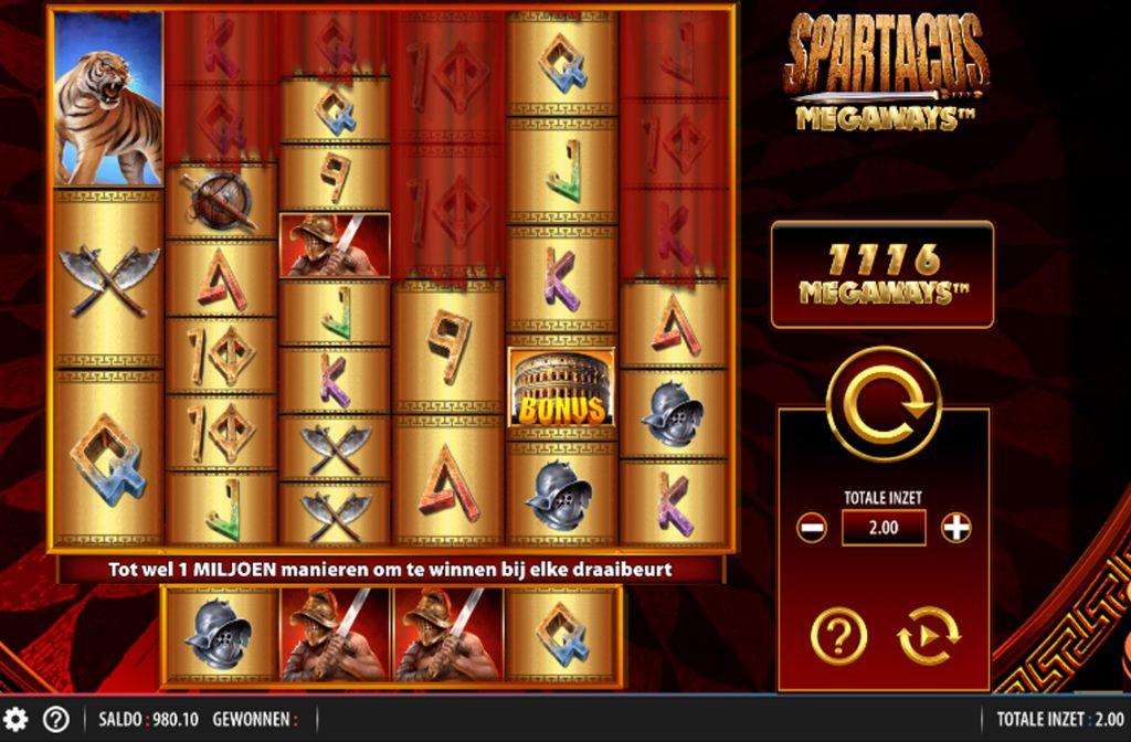 De Spartacus Megaways gokkast is ontwikkeld door spelprovider WMS