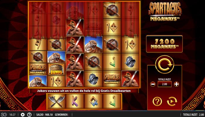 Spartacus Megaways Gameplay